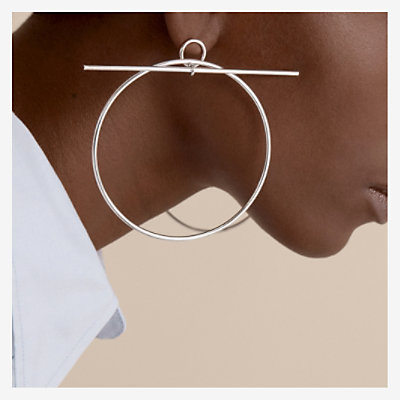 Loop earrings, very large model -