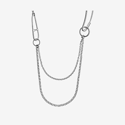 Chaine d'Ancre Punk long double necklace -