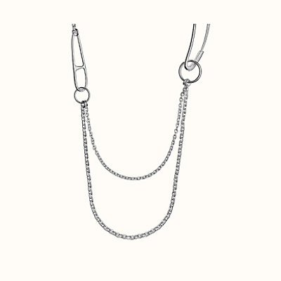 Chaine d'Ancre Punk long double necklace