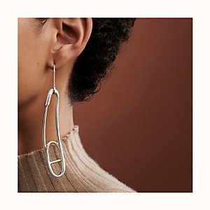 Chaine d'Ancre Punk left mono earring, medium model