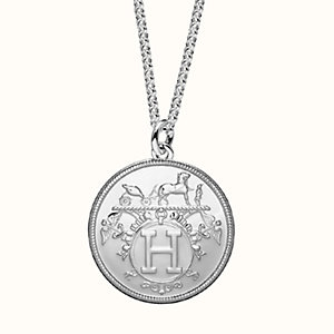 Hermes Ex-Libris long necklace, large model