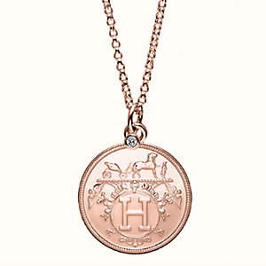 Hermes Ex-Libris long necklace, medium model
