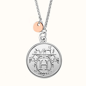 Hermes Ex-Libris necklace, medium model