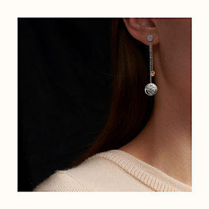 Hermes Ex-Libris earrings, small model