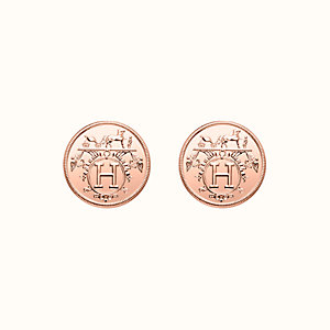 Hermes Ex-Libris earrings, very small model