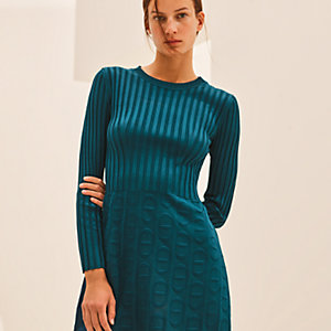 """Chaines d'Ancre"" knit long-sleeve dress"