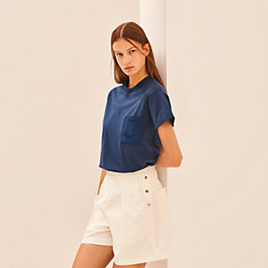 Straight embroidered pocket t-shirt