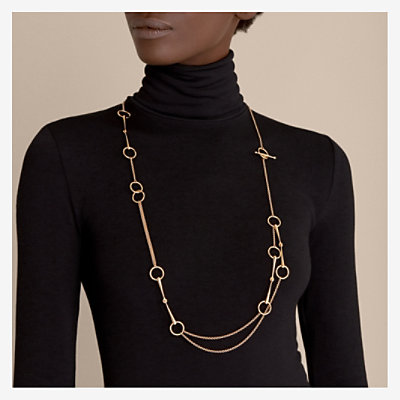 Filet d'Or long necklace, small model -