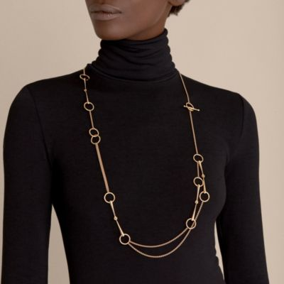 Filet d'Or long necklace, small model