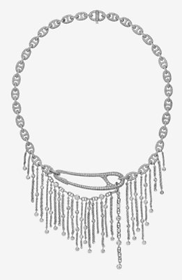 Chaine d'Ancre Punk fringe necklace, large model -