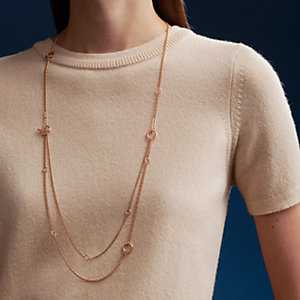 Echappee Hermes long necklace