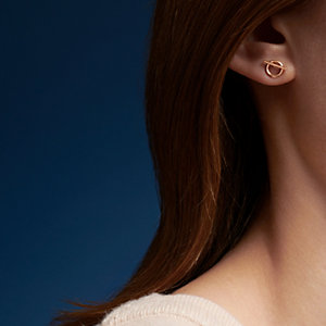 Echappee Hermes earrings, small model