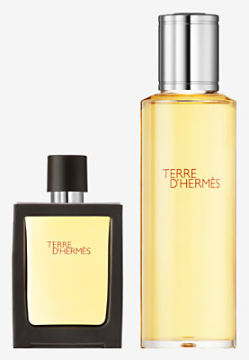 Terre d'Hermes Parfum travel spray and refill -