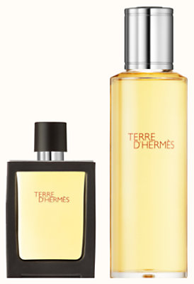 Terre d'Hermes Parfum travel spray and refill