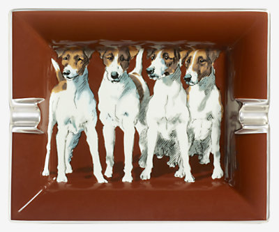 Fox Terriers ashtray 2H -