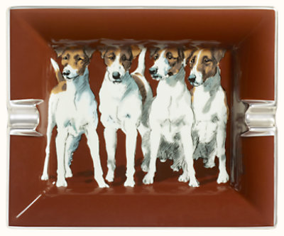 Fox Terriers ashtray 2H