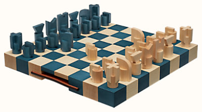 Horsecut chess game, small model