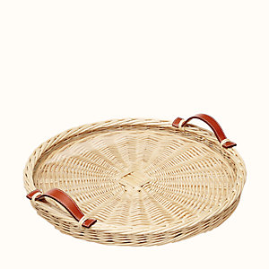 Oseraie round tray, small model