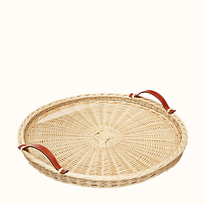 Oseraie round tray, large model