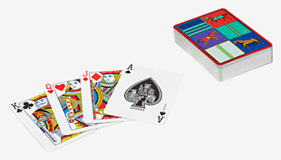 Couvertures Nouvelles poker playing cards -