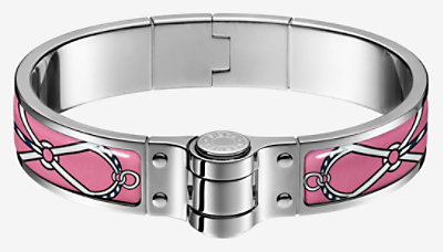 Leather Marins hinged bracelet - H511806FP75M