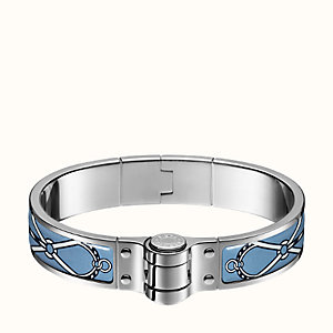 Leather Marins hinged bracelet