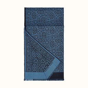 Inspiration Designer Style Cachemire Écharpe-bleu marine /& gris de retour en stock