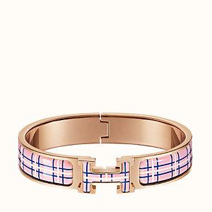 Clic H Tartan bracelet