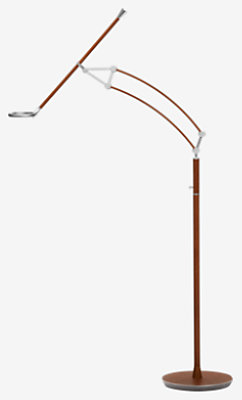 Pantographe Universal Reading Floor Lamp With Led Ring