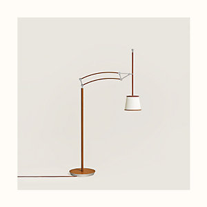 Pantographe reading floor lamp
