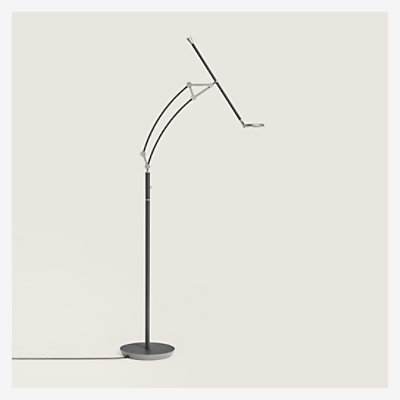 Pantographe reading floor lamp with LED ring - H750014MW04