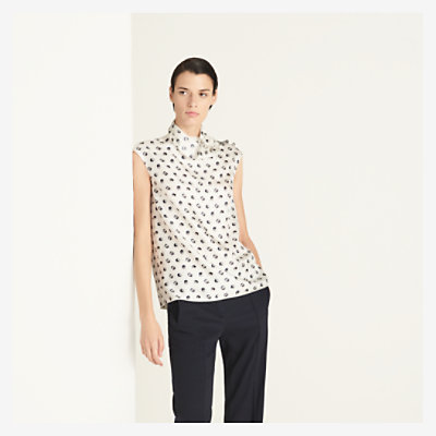 """Jeu de Billes"" buttoned collar top -"