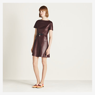 Leather dress -