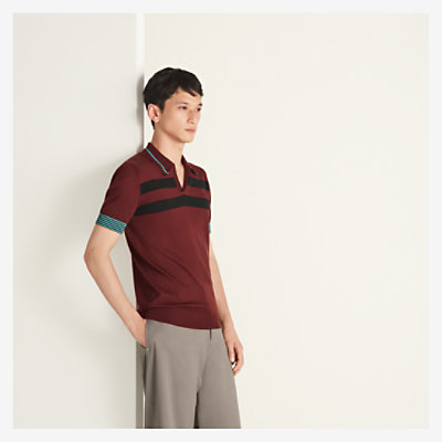 """Rayures sportives"" polo shirt -"
