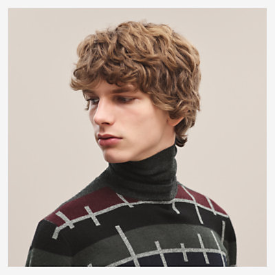 """Multirayures Colorees"" turtleneck sweater -"