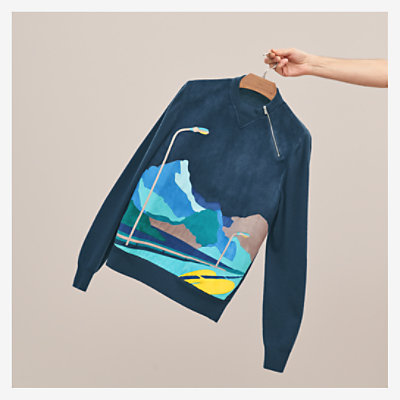 """Endless Road"" zipped sweater -"