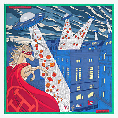 Space Shopping au Faubourg pocket square 45 -