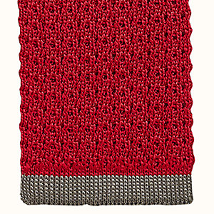 Cravate Tricot de soie bordure