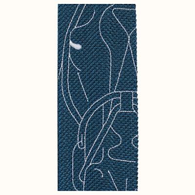 Tricot de Soie Tete-a-Tete Equestre embroidered tie 9be0918212eb