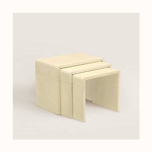 Reeditions J.-M. Frank par Hermes inverted U nesting tables