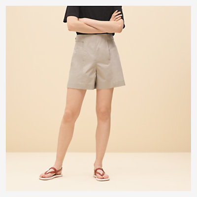 Shorts mit Applikationsdetail -