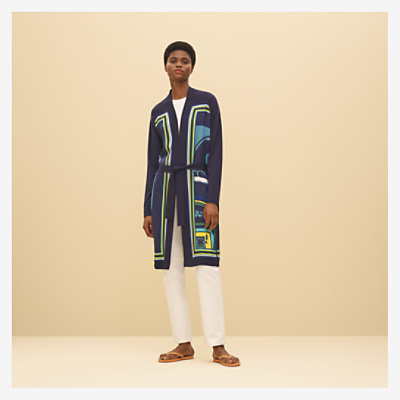 """Washington's carriage"" Twillaine long cardigan -"