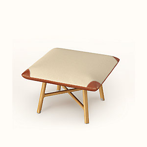 "Les Necessaires d'Hermes ""carre d'assise"" low stool, high model"
