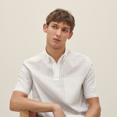 Polo shirt with double piping