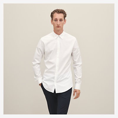 Fitted shirt with double piping -