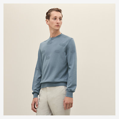 """Nuages"" crewneck sweater -"