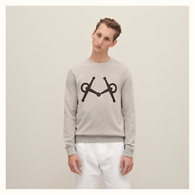 Sweat « Mors » patch en cuir