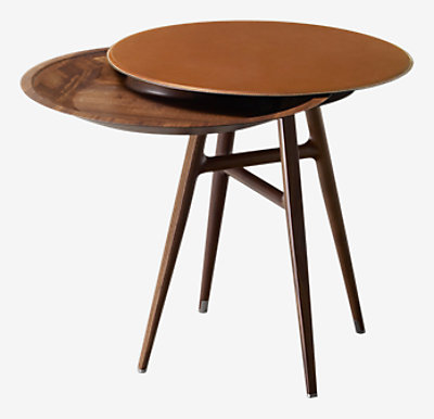 "Les Necessaires d'Hermes ""table a cachette"" stool-table, large model -"