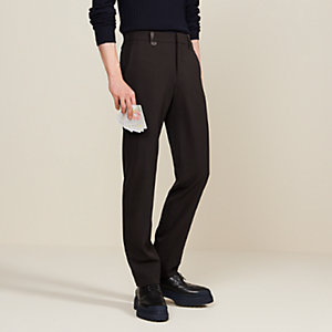 Saint Germain fitted pants with leather belt loops