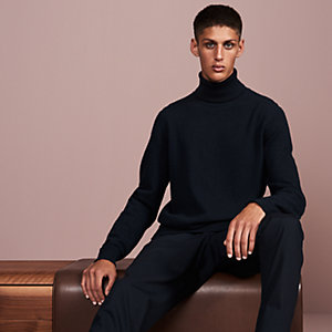 """Details Roulottes"" turtleneck sweater with rolled details"